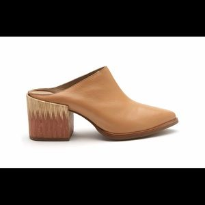 Matisse leather, heeled mules